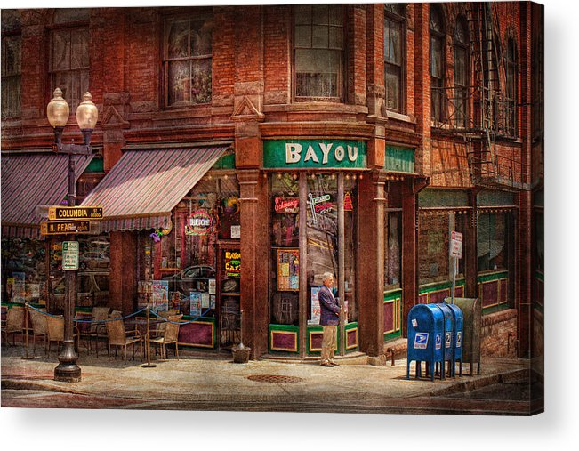 Pearl St Acrylic Print featuring the photograph Store - Albany Ny - The Bayou by Mike Savad