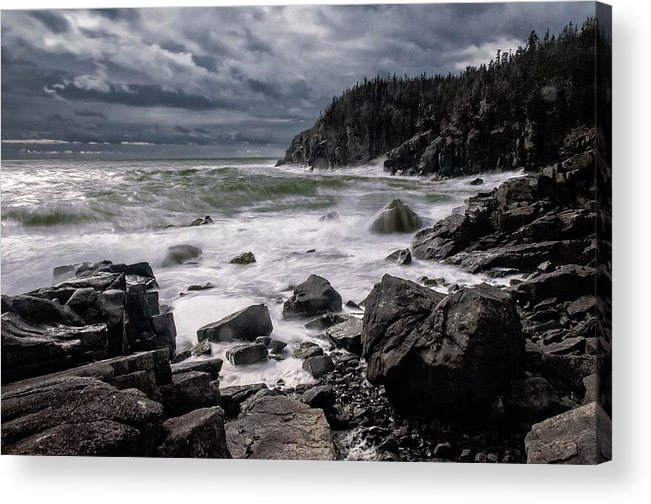 Gulliver's Hole Acrylic Print featuring the photograph Storm At Gulliver's Hole by Marty Saccone
