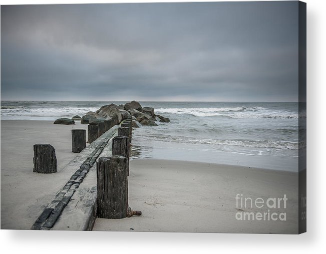 Folly Beach Acrylic Print featuring the photograph Stormy Beach Forcast by Dale Powell