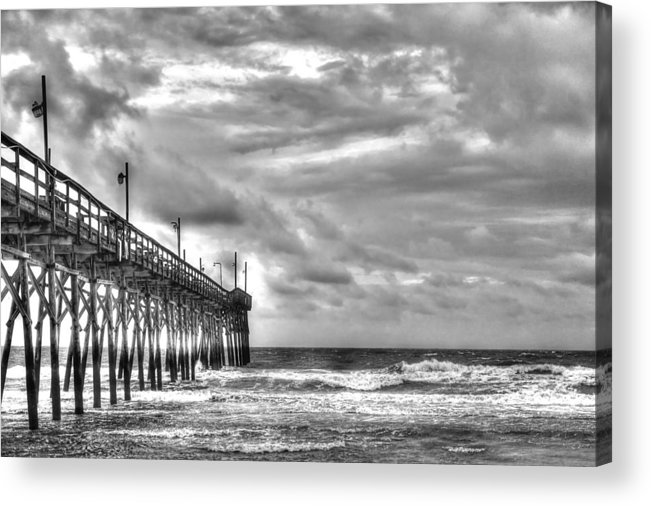 Fishing Pier Acrylic Print featuring the photograph Stormy Perspective by Don Mennig