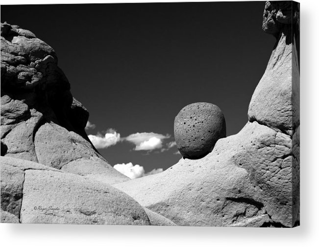 Unique Photos Acrylic Print featuring the photograph Strange Rocks 30 Bw by Roger Snyder