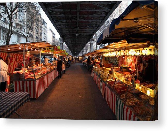 Paris Acrylic Print featuring the photograph Street Scenes - Paris France - 011316 by DC Photographer