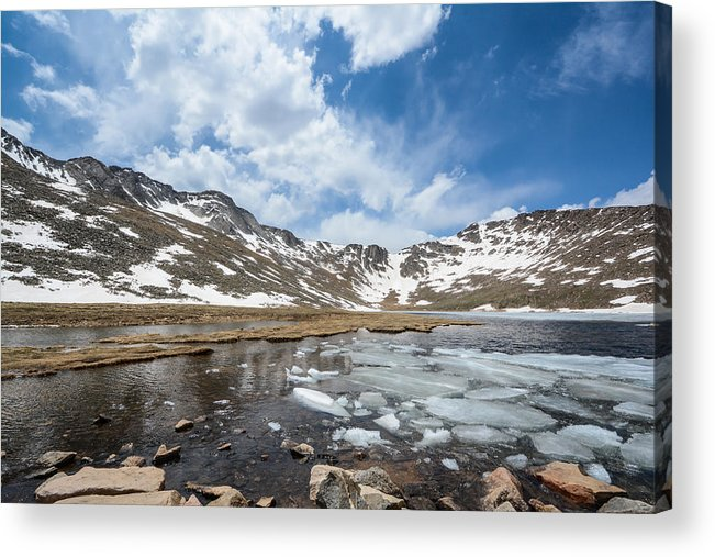 Mount Acrylic Print featuring the photograph Summit Lake In The Spring by Colleen Coccia