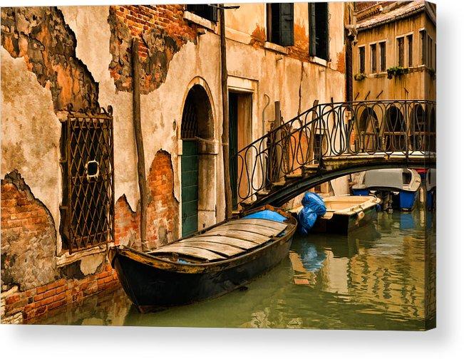 Venice Acrylic Print featuring the digital art Sunday In Venice by Mick Burkey