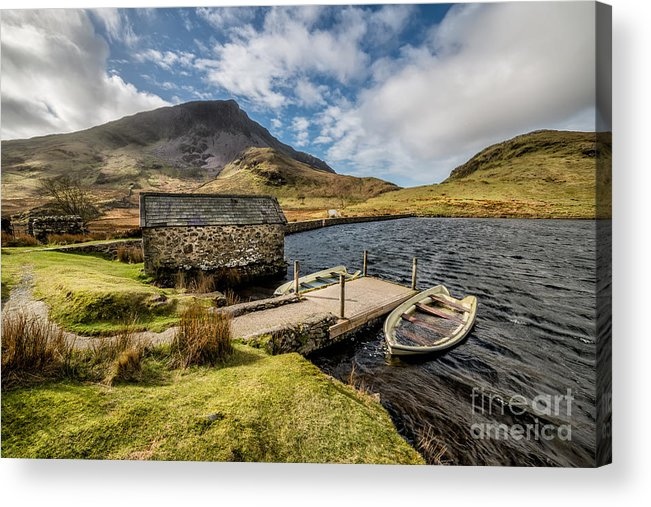 Beddgelert Acrylic Print featuring the photograph Sunken Boats by Adrian Evans