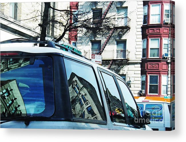 Buildings Acrylic Print featuring the photograph Sunny Day In Washington Heights by Sarah Loft