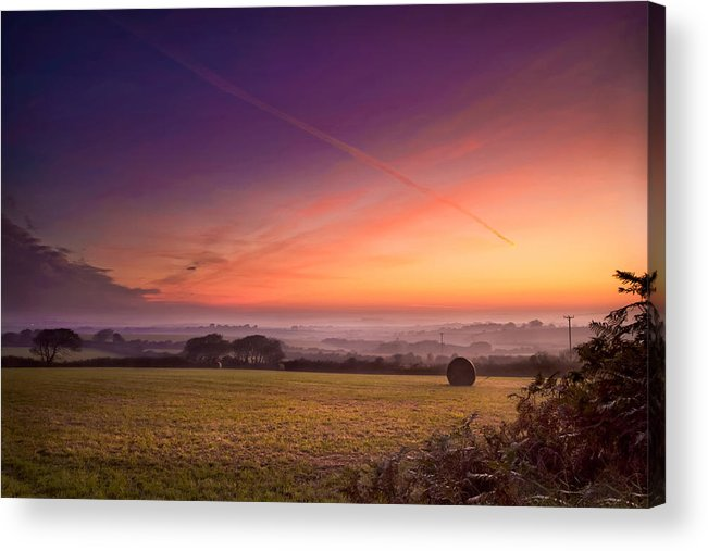 Landscape Acrylic Print featuring the photograph Sunrise Over Cornwall by Christine Smart