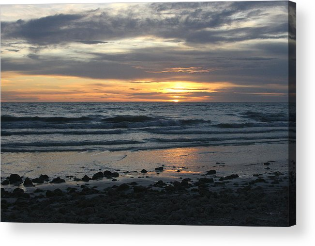 Sun Acrylic Print featuring the photograph Sunset Amoung The Clouds by David Rosenthal