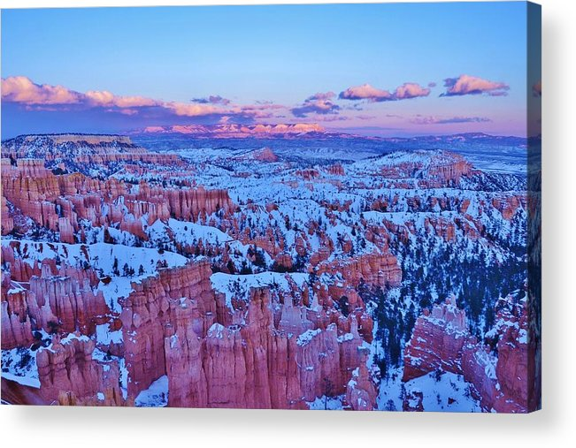 Bryce Canyon Sunset Acrylic Print featuring the photograph Sunset At Bryce Canyon Utah by David Knowles