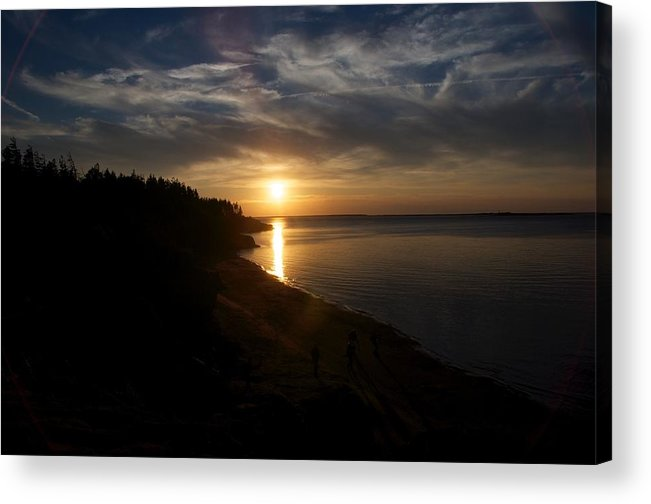 Seascape Acrylic Print featuring the photograph Sunset At Cabot Beach by Frank Falzett