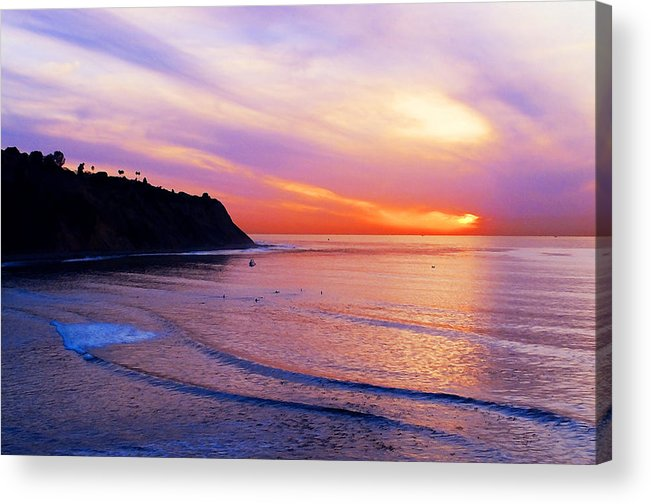 Sunset At Pv Cove Acrylic Print featuring the photograph Sunset At Pv Cove by Ron Regalado