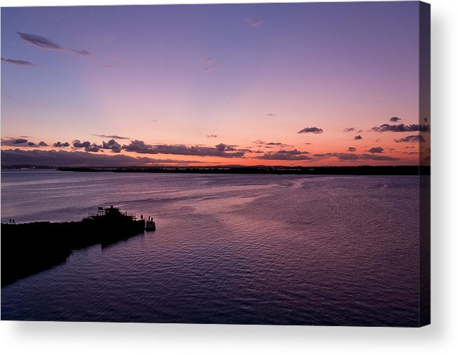 River Acrylic Print featuring the photograph Sunset At The River by Celso Bressan