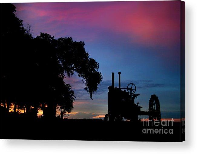Sunset On The Farm Acrylic Print featuring the photograph Sunset On The Farm by E B Schmidt
