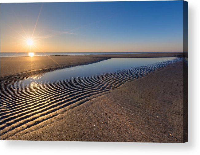 Clouds Acrylic Print featuring the photograph Sunshine On The Beach by Debra and Dave Vanderlaan