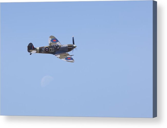 Images In Light Acrylic Print featuring the photograph Supermarine Mk.vc Spitfire by Ross Murphy