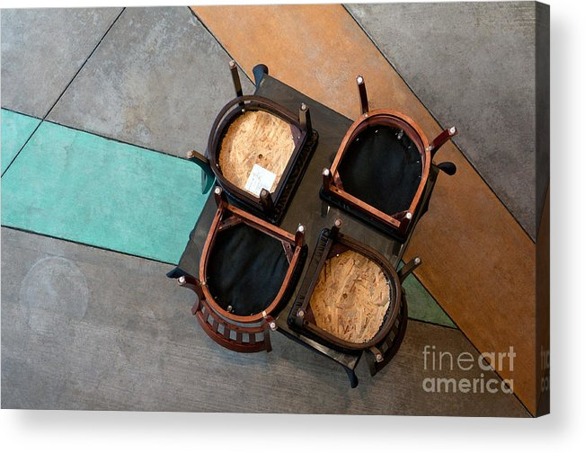 Table Acrylic Print featuring the photograph Table And Chairs by Dan Holm