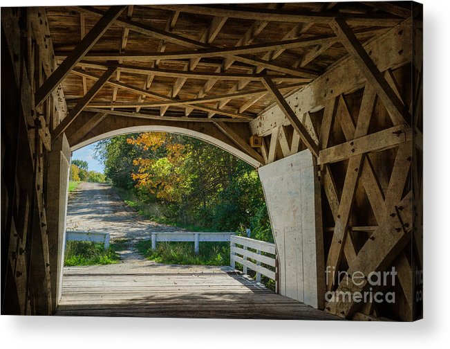 Bridges Of Madison County Acrylic Print featuring the photograph Take Me Back by Tamara Becker