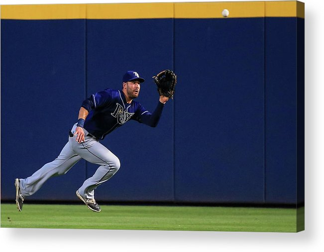 Atlanta Acrylic Print featuring the photograph Tampa Bay Rays V Atlanta Braves by Daniel Shirey