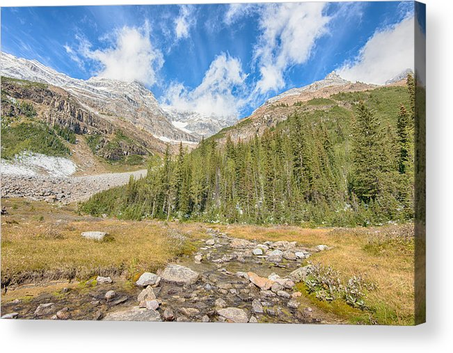Adventure Acrylic Print featuring the photograph Tea House View - Lake Louise - Canada by Steve Lagreca
