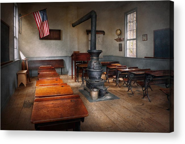 Teacher Acrylic Print featuring the photograph Teacher - First Day Of School by Mike Savad