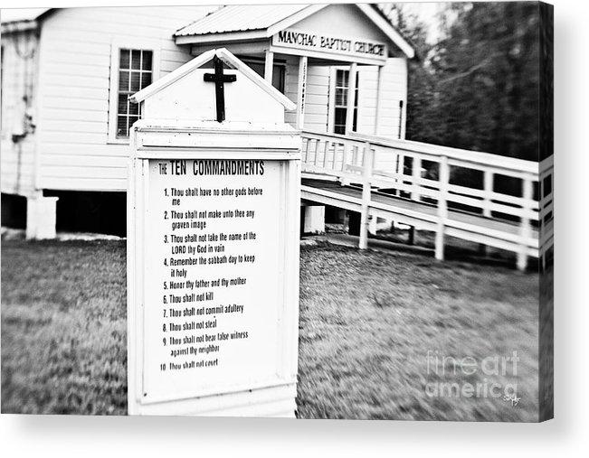 Manchac Acrylic Print featuring the photograph Ten Commandments by Scott Pellegrin