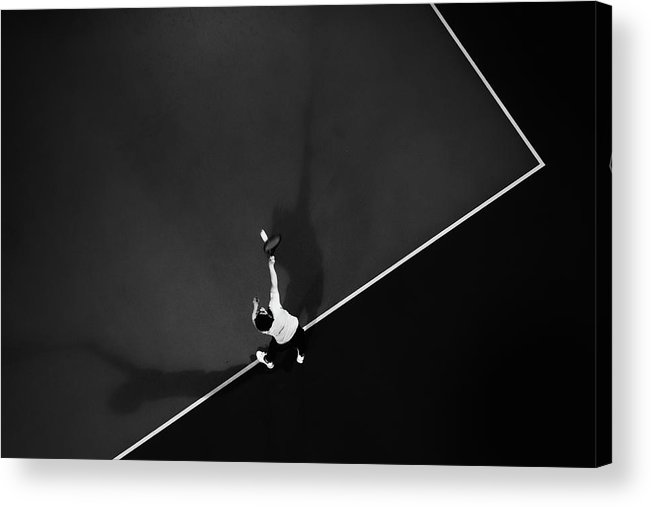 Aerial Acrylic Print featuring the photograph Tennis by Rui Caria