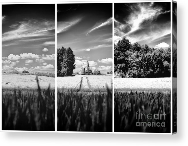 Thaxted Acrylic Print featuring the photograph Thaxted Mill Triptych by Jack Torcello