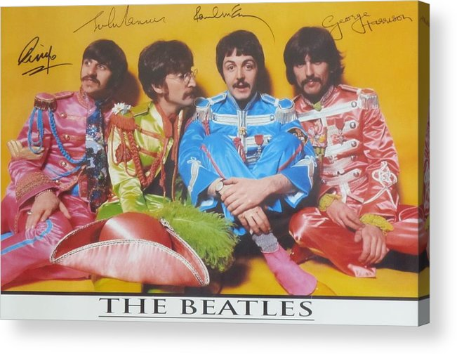 The Beatles Acrylic Print featuring the photograph The Beatles by Donna Wilson
