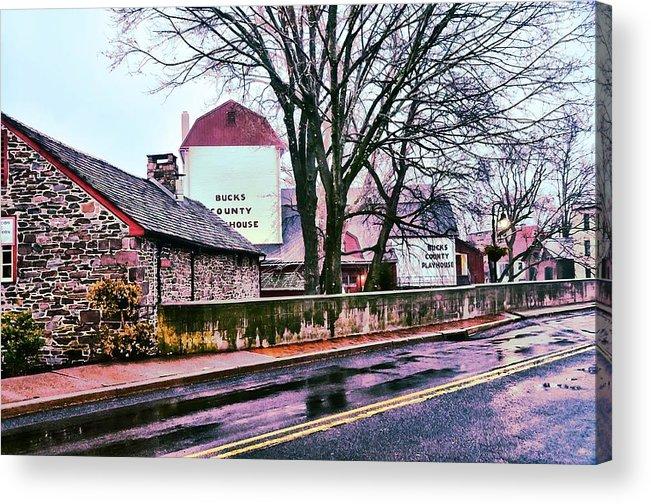 Bucks Acrylic Print featuring the photograph The Bucks County Playhouse by Bill Cannon