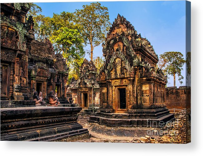 Cambodia Acrylic Print featuring the photograph The Citadel Of Women by Roberta Bragan