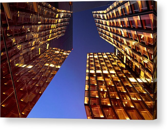 Architectur Acrylic Print featuring the photograph The Dancing Towers by Marc Huebner