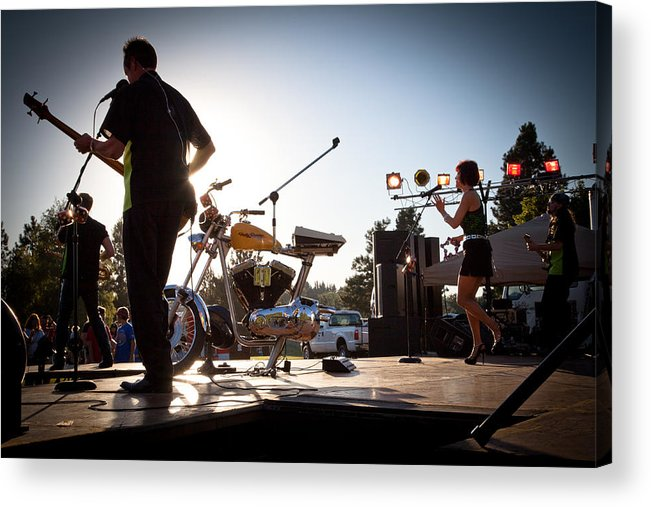 The Kingpins Acrylic Print featuring the photograph The Fabulous Kingpins - Pullman's 4th Of July Celebration by David Patterson