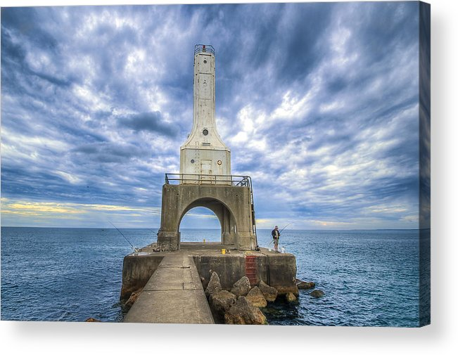 Fisherman Acrylic Print featuring the photograph The Fisherman by Anna-Lee Cappaert