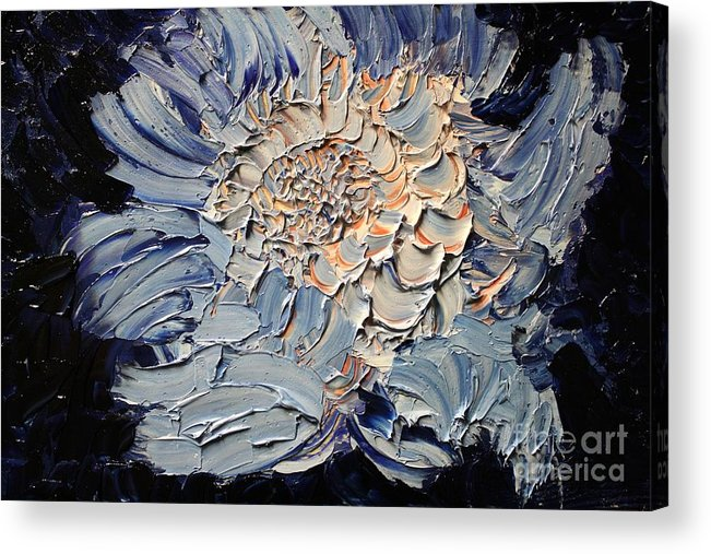 Michael Kulick Acrylic Print featuring the painting The Flower I Never Sent by Michael Kulick