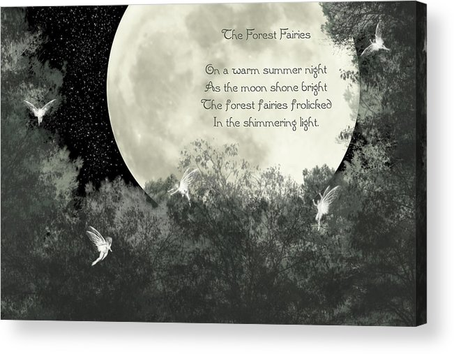 Moon Acrylic Print featuring the photograph The Forest Fairies by Randi Kuhne