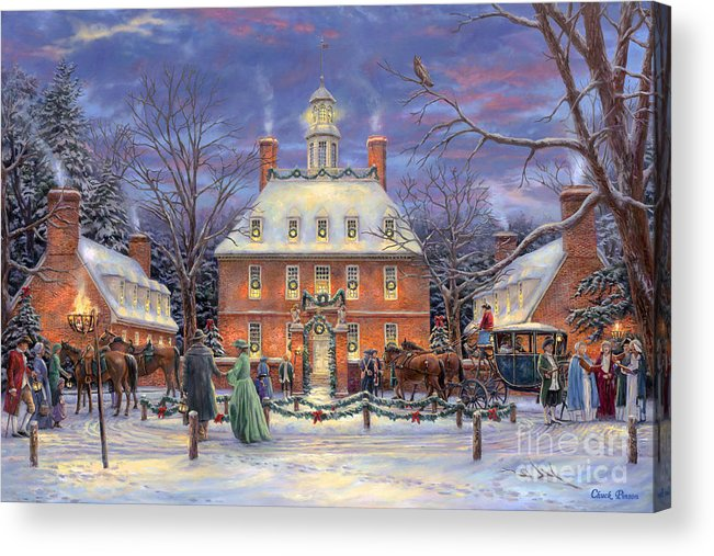 Williamsburg Acrylic Print featuring the painting The Governor's Party by Chuck Pinson
