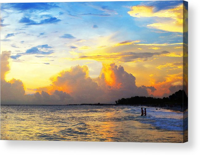 Sunset Acrylic Print featuring the painting The Honeymoon - Sunset Art By Sharon Cummings by Sharon Cummings