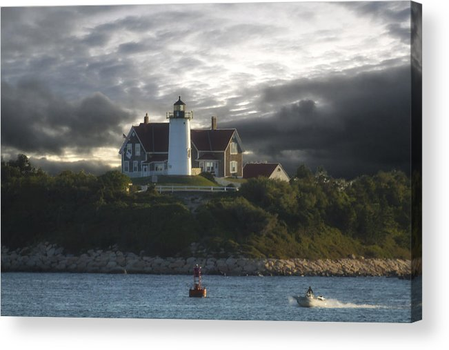 Nobska Point Lighthouse Acrylic Print featuring the photograph The Light At Nobska Point by Constantine Gregory