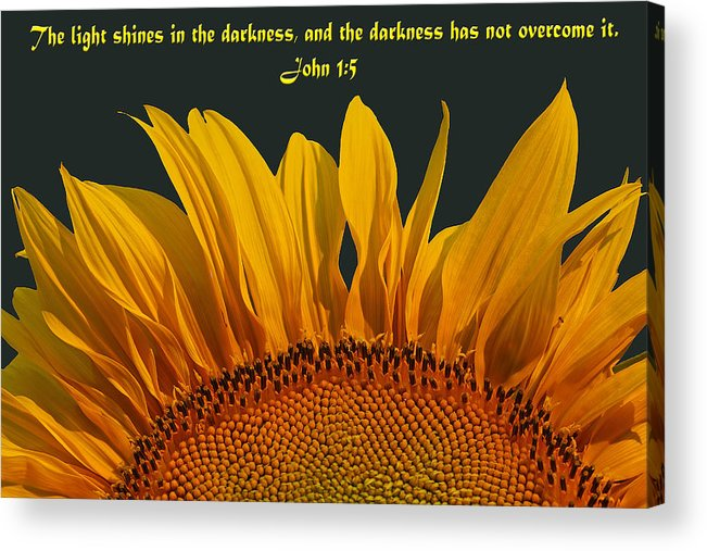 Inspirational Photography Acrylic Print featuring the photograph The Light Shines by Melanie Melograne