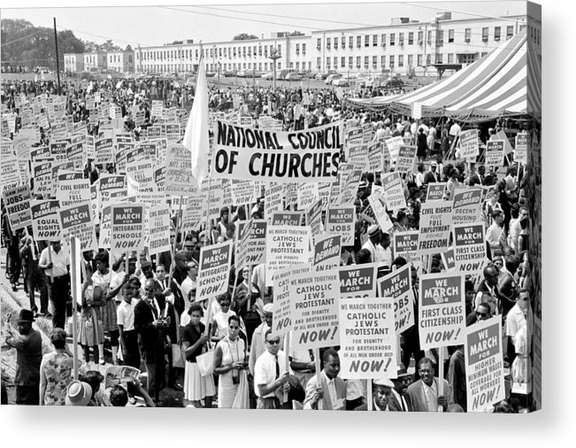 Civil Rights Acrylic Print featuring the photograph The March For Civil Rights by Benjamin Yeager