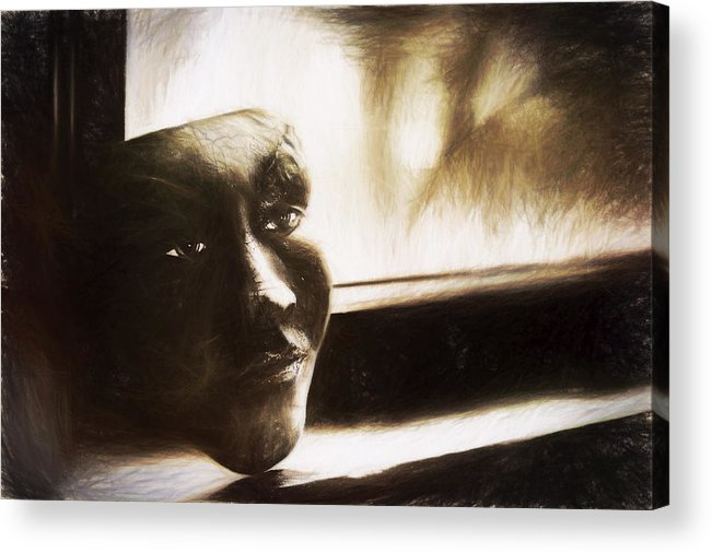 Window Acrylic Print featuring the photograph The Mask Sketch by Scott Norris