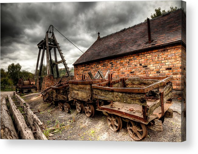Architecture Acrylic Print featuring the photograph The Old Mine by Adrian Evans
