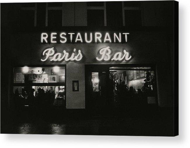 Paris Bar Acrylic Print featuring the photograph The Paris Bar by Dominique Nabokov