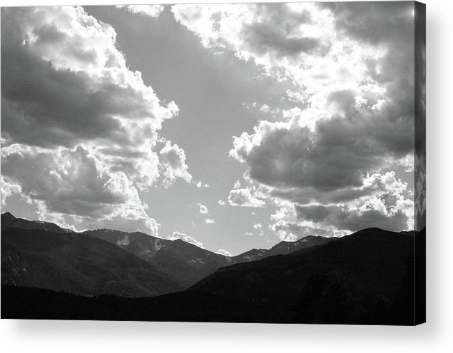 Clouds Acrylic Print featuring the photograph The Parting by Tracy Michicich