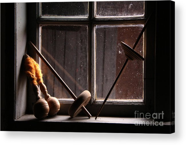 Window Acrylic Print featuring the photograph The Spinners Window by Inge Riis McDonald