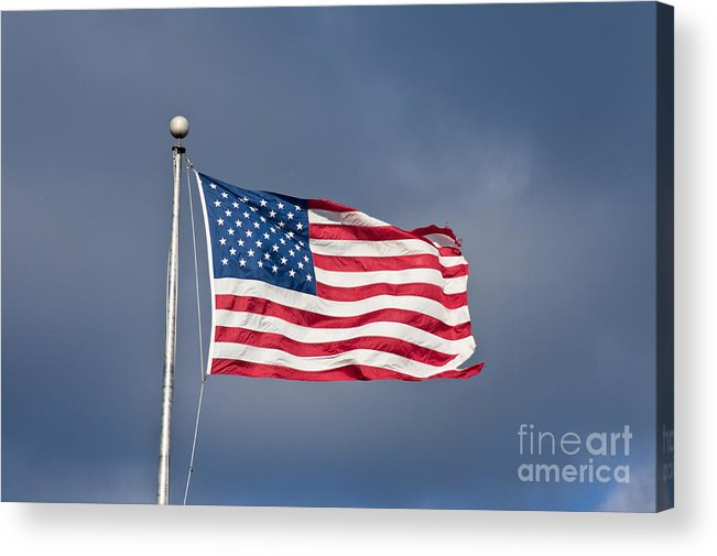America Acrylic Print featuring the photograph The United States Of America by Benjamin Reed
