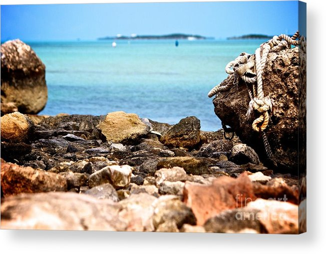 Bahamas Acrylic Print featuring the photograph The View From Shore by Cheryl Hurtak