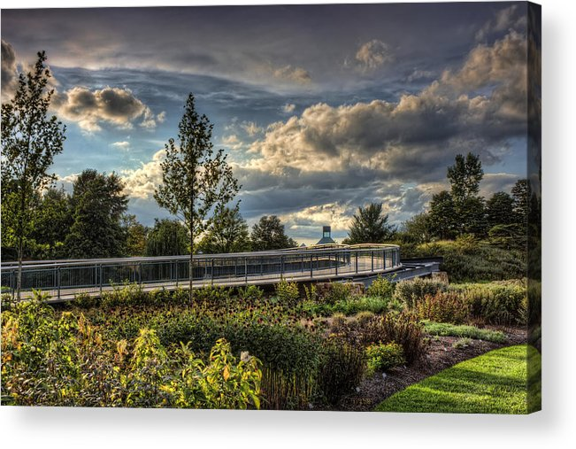 Landscape Acrylic Print featuring the photograph The Walking Path by Scott Wood