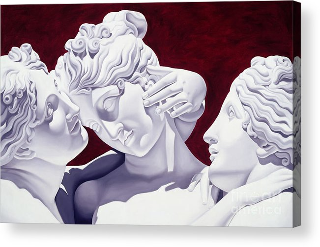 Three Acrylic Print featuring the sculpture Three Graces by Catherine Abel