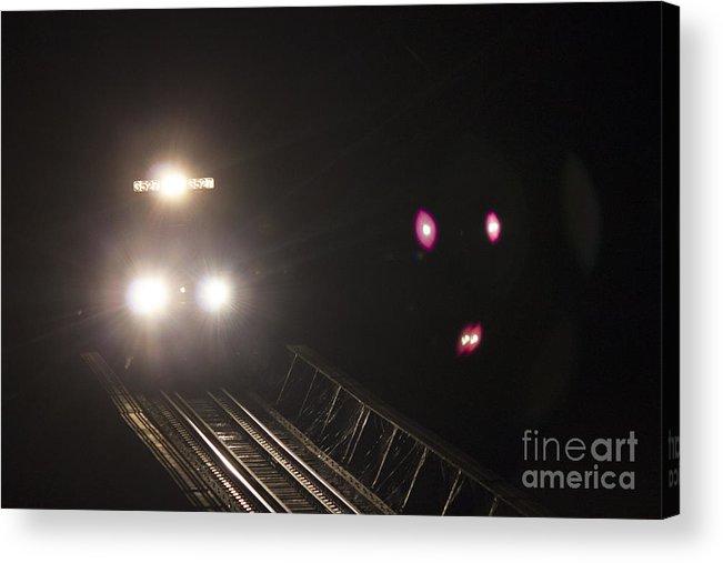 Flodd Wall Acrylic Print featuring the photograph Train 3527 by Debra K Roberts